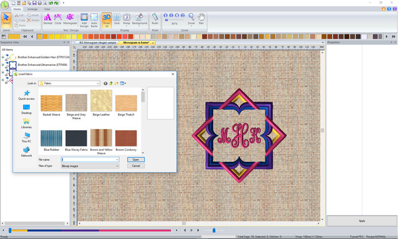 Initial Stitch Embroidery Lettering & Monogramming Software